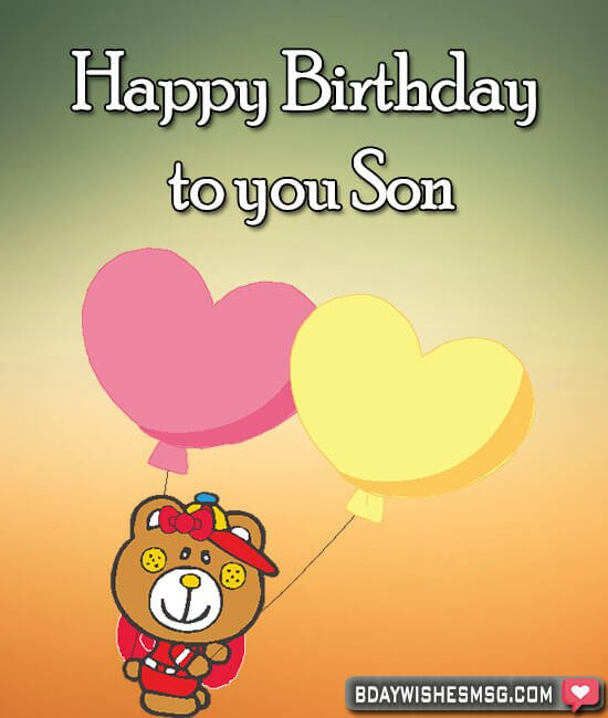 Happy birthday to you son
