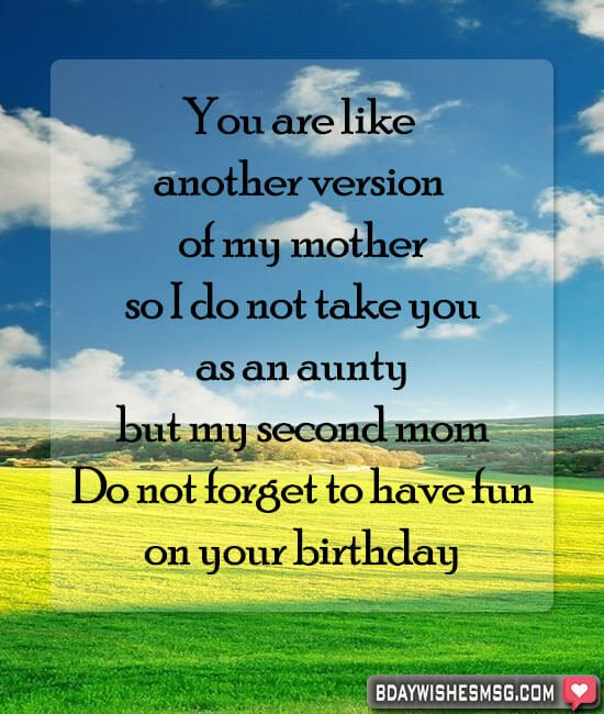 birthday wishes for aunt from nephew