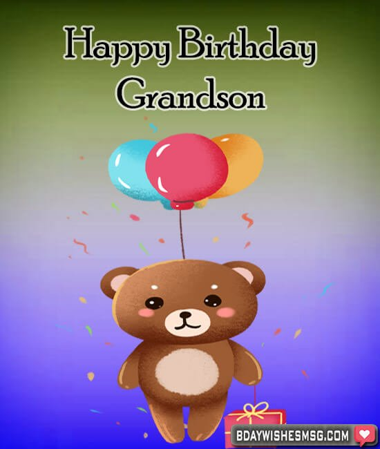 Cards birthday wishes for grandson