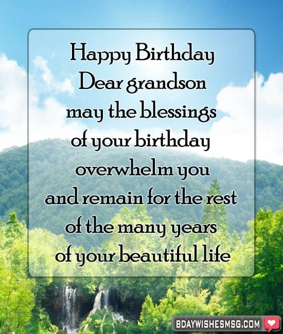 birthday wishes for grandson from grandma