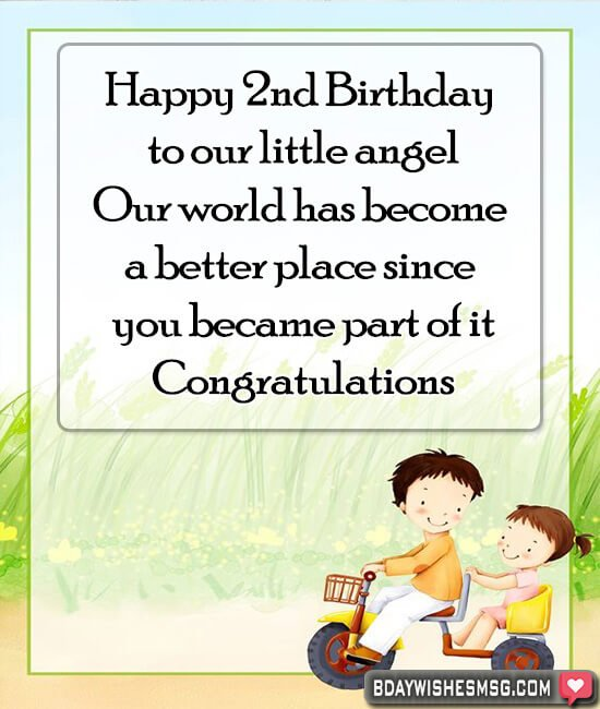 2nd birthday wishes for son