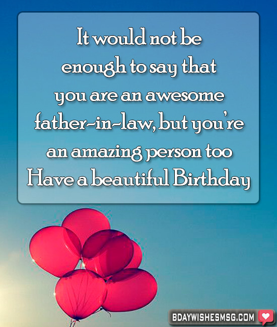 birthday messages for father in law